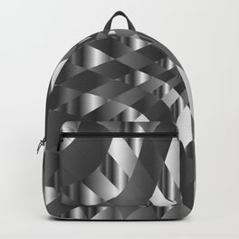 Silver metal background chrome texture Backpack