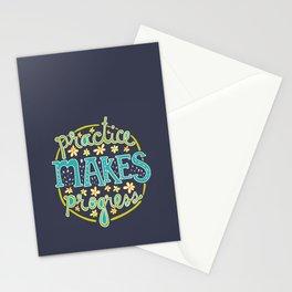 Practice Makes Progress Stationery Cards