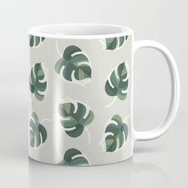 Monstera Cat pattern 1 Coffee Mug