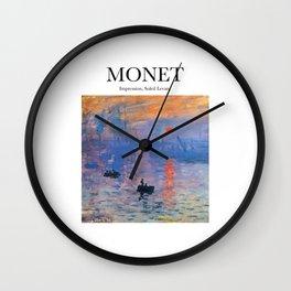 Monet - Impression, Soleil Levant Wall Clock