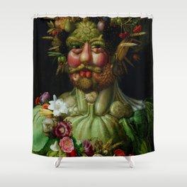 "Giuseppe Arcimboldo ""Holy Roman Emperor Rudolf II re-imagined as Vertumnus"" Shower Curtain"
