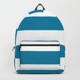 Primary Blue, Wishing Well Blue, Amazing Sky, Blue to the Bone Hand Drawn Fat Horizontal Stripes Backpack