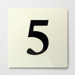 5 (BLACK & BEIGE NUMBERS) Metal Print