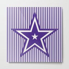 The Greatest Star - Purple Stripes Metal Print