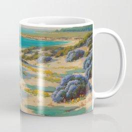 Bush Lupine and Poppies, Sand Dunes, Monterrey by John Marshall Gamble Coffee Mug