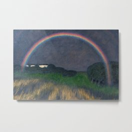 Rainbow at Twilight, Wheat Fields, Auvers-sur-Oise, Frances by Franx von Struck Metal Print