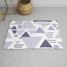 triangle geometric purple Rug