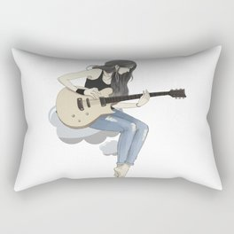 #art #girl #anime #guitar #animation #society6 #gift #shop Rectangular Pillow