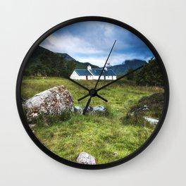 Cottage in Glencoe Wall Clock