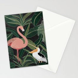 Flamingo and Pelican Stationery Cards