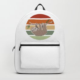 Retro Hanging Sloth Backpack