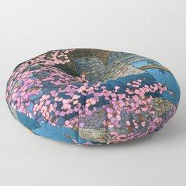 Kawase Hasui - Kintai Bridge Night Spring - Digital Remastered Edition Floor Pillow