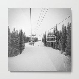 """Ski Lift"" Deep Snow Season Pass Dreams Snowy Winter Mountains Landscape Photography Metal Print"