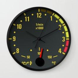E46 Tachometer Clock Wall Clock
