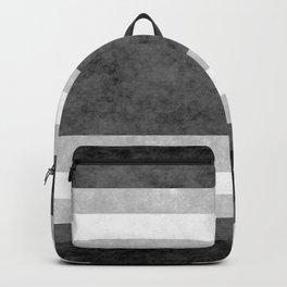 Grunge Stripes Simple Modern Minimal Pattern - Black White Backpack