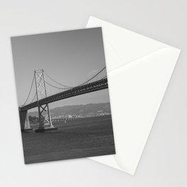 San Francisco - Oakland Bay Bridge- Black and White Stationery Cards