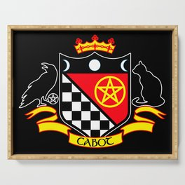 Cabot Tradition Crest (black) Serving Tray