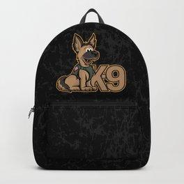 K-9 Dog Cartoon Illustration Backpack
