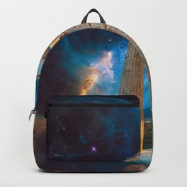 Parthenon Acropolis Greece Meets Space and Astronaut Backpack