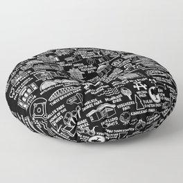 Milwaukee Map  Floor Pillow