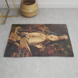 Eugne Delacroix - Greece on the Ruins of Missolonghi Rug