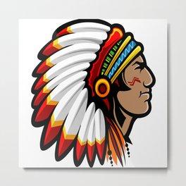 Native American Chief Metal Print