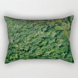 Arial tropical forest Rectangular Pillow