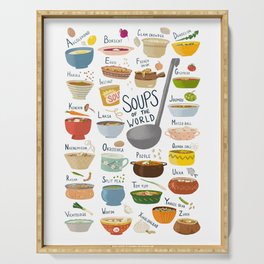 Soups of the World Serving Tray