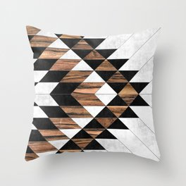 Urban Tribal Pattern No.9 - Aztec - Concrete and Wood Deko-Kissen
