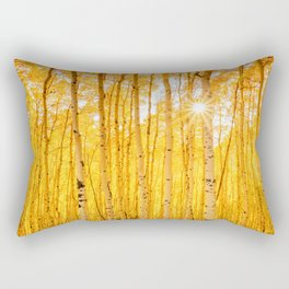 Aspens Of Autumn Colorado Landscape Sun Through Trees Rectangular Pillow