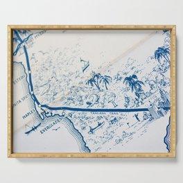 Vintage Florida Map Serving Tray