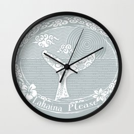 Vintage Lahaina Please White Whales Tail Wall Clock