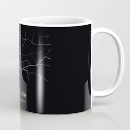 Montana State Road Map Coffee Mug