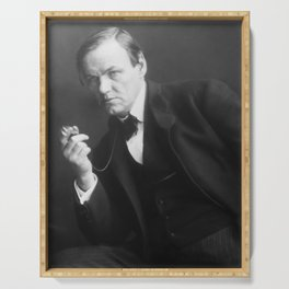 Clarence Darrow Portrait Serving Tray
