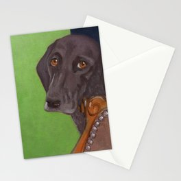Dog on Chair Stationery Cards