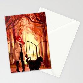 Autumn walk Stationery Cards