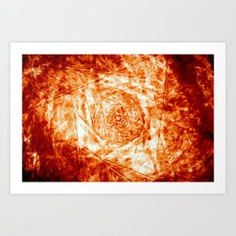 Flare - Red-Orange Fire Digital Abstract Art Print