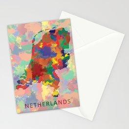 Netherlands, Outline, Map Stationery Cards