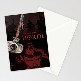 Orc Warrior Battle Hammer For The Horde 2 Stationery Cards