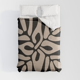 Henri matisse cut out blacka nd white flowers classic abstract, contemporary art Comforters