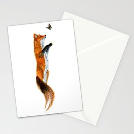 Fox Reaching Stationery Cards