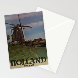 Holland by Rail Placard Stationery Cards