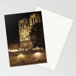 Notre Dame At Night - Paris, France. November, 2011 Stationery Cards