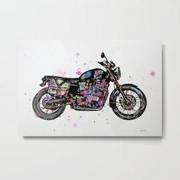 Motorcycle - Bonneville Triumph T100  Metal Print