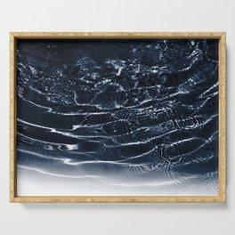 Dark Night Navy Blue Ocean Dream #1 #water #decor #art #society6 Serving Tray