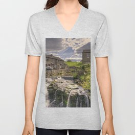 Hawes Waterfall  Unisex V-Neck