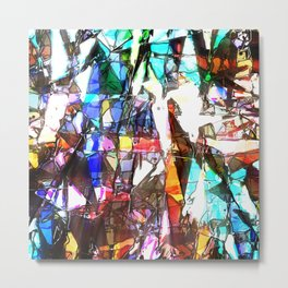 Light Streaming Through Stained Glass Metal Print