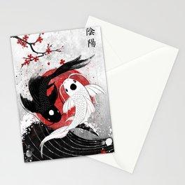 Koi fish - Yin Yang Stationery Cards