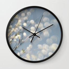 Spring blossom bokeh Wall Clock