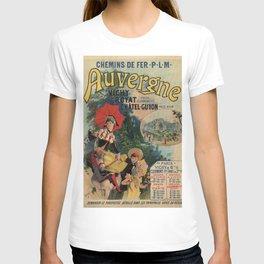 Vintage Auvergne French travel advertising T-shirt